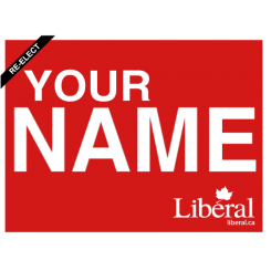 online design liberal party of canada election sign 4mm